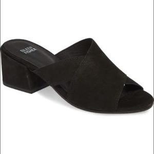 Eileen Fisher Haven Sandals Black Leather Size 6